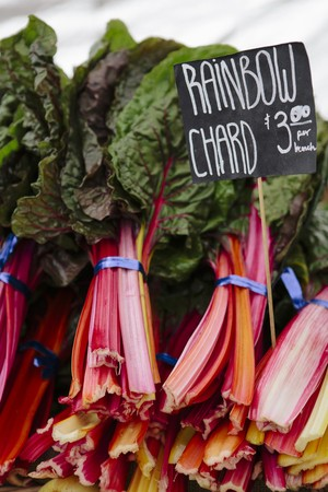 Rainbow chard at a market