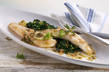 Pangasius fillet in a spicy lime butter