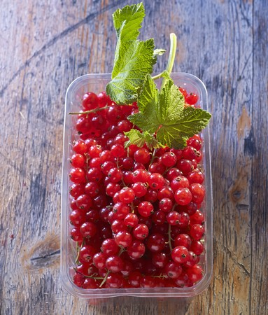 Redcurrants in a plastic punnet