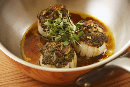 coquille: Fried scallops with a herb crust LANG_EVOIMAGES
