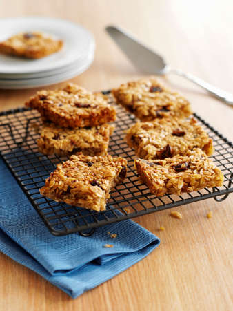 bakery products: Flapjacks on a cooling rack