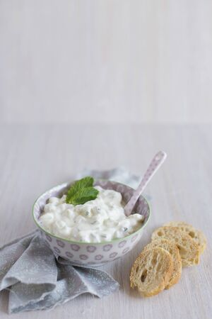 Tzatziki with goats cream cheese LANG_EVOIMAGES