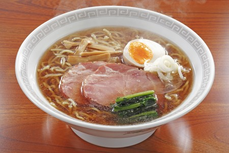 bouillon: Sapporo Ramen (noodle soup with soy sauce, Japan) with pork and egg LANG_EVOIMAGES