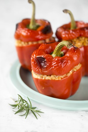 pimiento: Red peppers stuffed with barley and rosemary