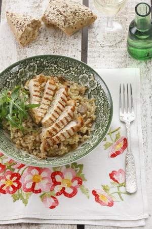 Mushroom and pork risotto