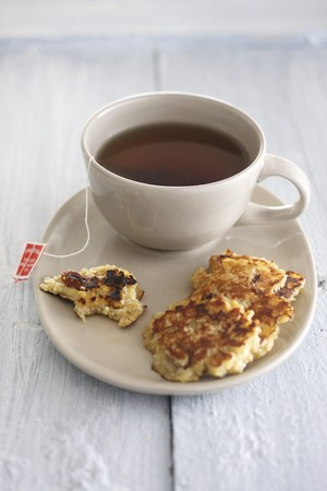 Cassava fritters and a cup of tea