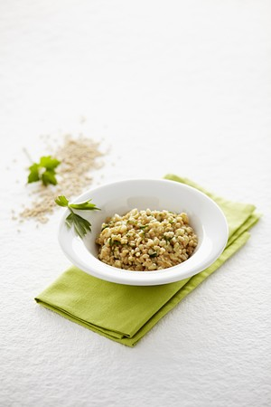 Wholemeal risotto with loveage