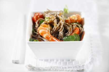 whiteness: Fried noodles with prawns