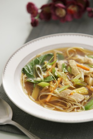 Chicken soup with noodles LANG_EVOIMAGES