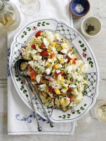 Potato salad with chopped egg