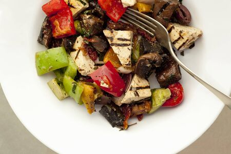 Antipasti with grilled tofu
