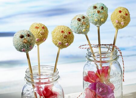 Crispy cake pops for a childs party
