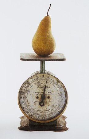 complete: A Pear on a Metal Scale