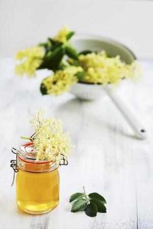 Homemade elderberry syrup in a jar LANG_EVOIMAGES
