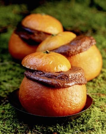 Chocolate orange souffle