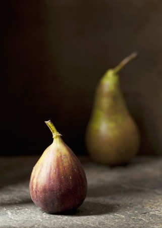 Fresh fig and pear