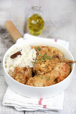 Spicy Yassa chicken (a Senegambian chicken dish)