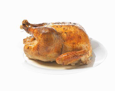 silos: Roast turkey on a serving platter