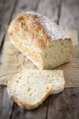 Crusty white bread with dried yeast