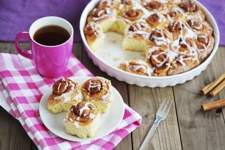 Cinnamon rolls for tea