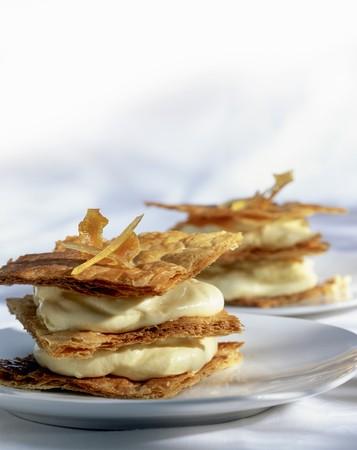Mile feuilles with vanilla cream