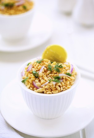 vigna: A yellow mung bean salad with onions