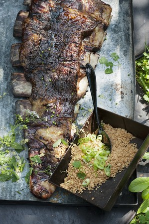 Grilled churrasco ribs with Farofa (Brazil) LANG_EVOIMAGES