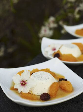 afters: Panna cotta with orange sauce LANG_EVOIMAGES