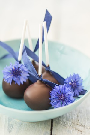 coatings: Cake pops with cornflowers LANG_EVOIMAGES