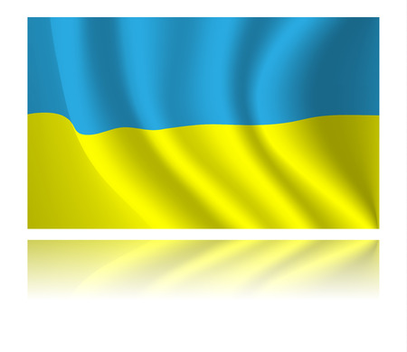 emblem of ukraine: Ukraine flag with shadow in the wind illustration Illustration