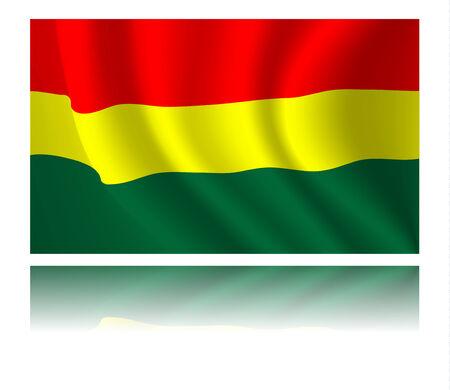 bandera de bolivia: Bandera de Bolivia con la sombra en el viento ilustraci�n