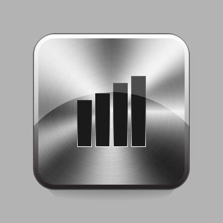 titan: Graph chrome or metal  button or icon illustration Illustration