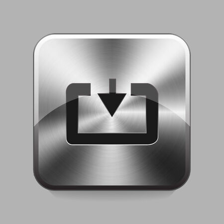 chrome cart: Download cart chrome or metal  button or icon illustration
