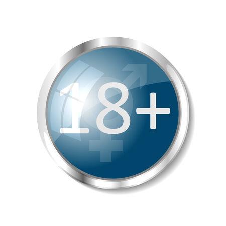 vuxen: Vuxen blå knapp eller ikon vektor Illustration