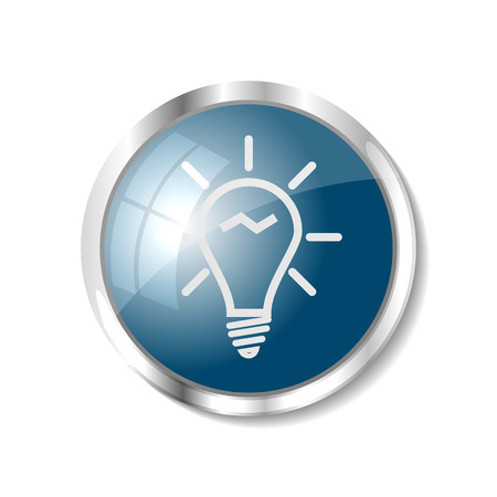 Good idea or bulb blue  button or icon vector illustration Vector
