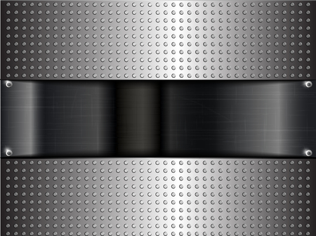 chrome background: Metallic or chrome background or texture  vector illustration