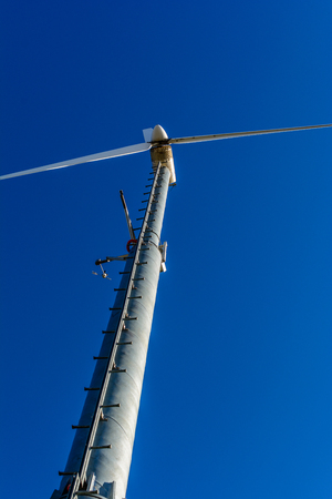 wind power plant: Wind power plant and clear blue sky