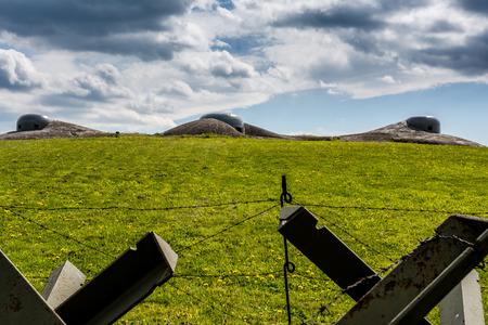 fortification: Czech defense fortification bunker from world war two