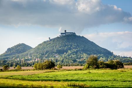 Czech old castle Bezdez in sunny day