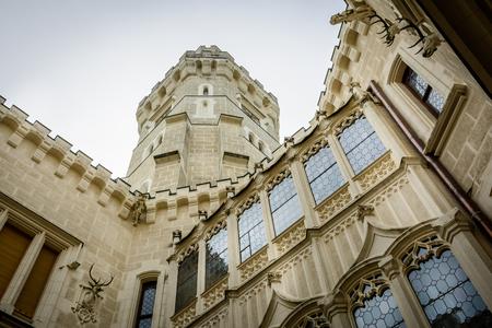Hluboka nad Vltavou, Czech republic - September 19, 2017:Czech famous baroque castle Hluboka nad Vltavou