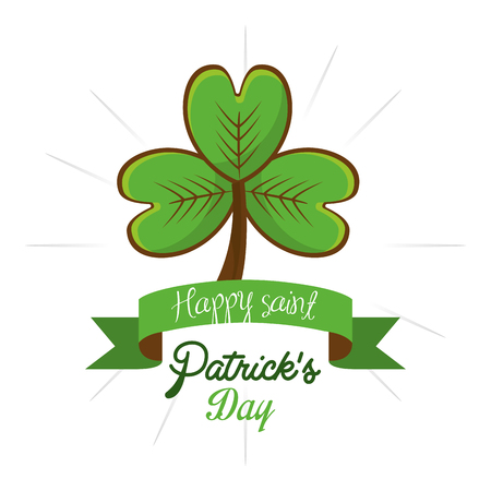 Cute clover patricks day icon Illustration