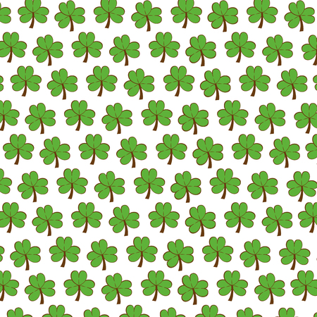 patrick: Cute clover patricks day icon Illustration
