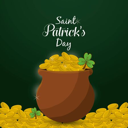 Cute gold St Patricks day icon