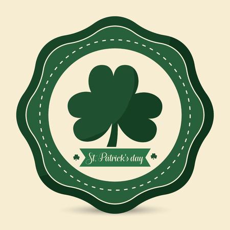 Cute clover Patricks day icon