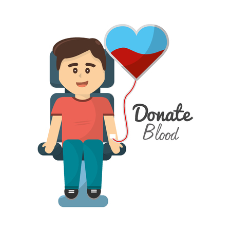 donating: Cool man donating blood icon