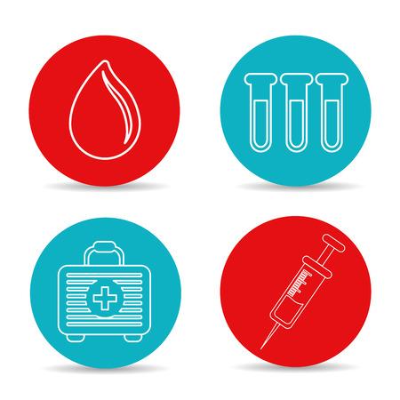 Cool blood donation tools icon