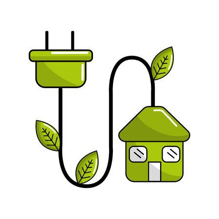 reduce power cable icon Illustration