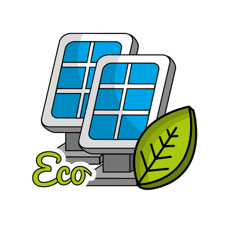 solar energy eco icon