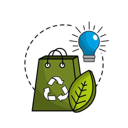 reduce and save electry energy icon Illustration