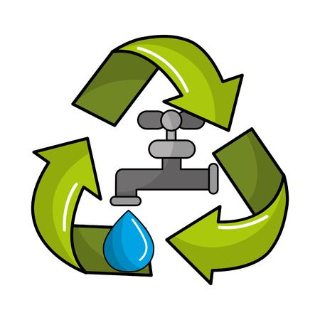 broadsheet: reduce and save water icon Illustration
